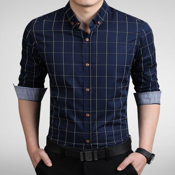 This cotton dress shirt is classy, beautiful and comfortable. It is a long sleeve shirt and can be worn casually as well as for business and formal occasion. #tshirt #poloshirt #businessshirt #casualshirt #Menshirt #menfashion