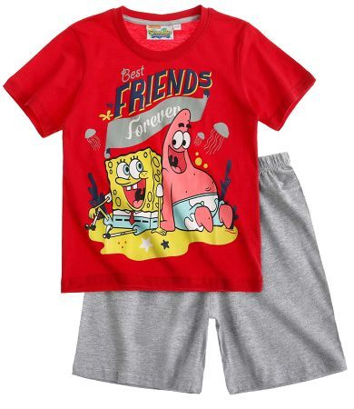 Sponge Bob Short Sleeve Pyjama red