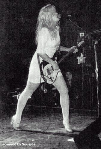 Kat Bjelland of the proto-riot grrrl band Babes In Toyland. Despite her scary image and music, she's very sweet.