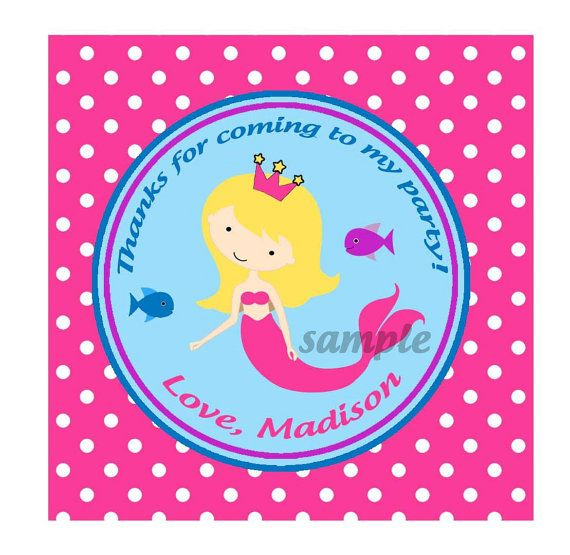 Mermaid Under the Sea Swim Birthday Party Favor by ThatPartyChick, $8.00