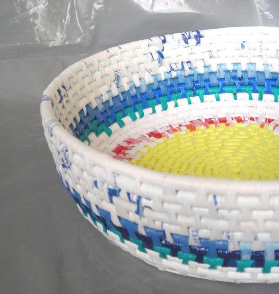 recycled plastic bag basket