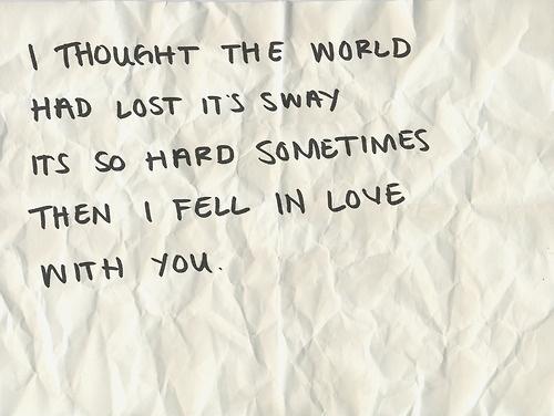 blue october lyrics   Calling You, and I'm do glad I fell for you! :)