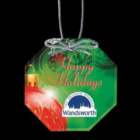 """Promotional Products Ideas That Work: VividPrint™ Ornament - Octagon 3½"""". Get yours at www.luscangroup.com"""