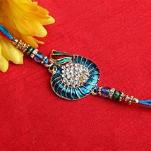 Studded Peacock Rakhi
