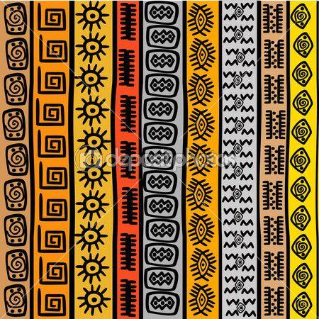patrones sin fisuras con motivos étnicos africanos — Imagen de stock #15788329