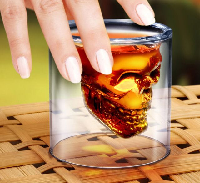 Crystal Skull Pirate Shot Glass Drink Cocktail Beer Cup