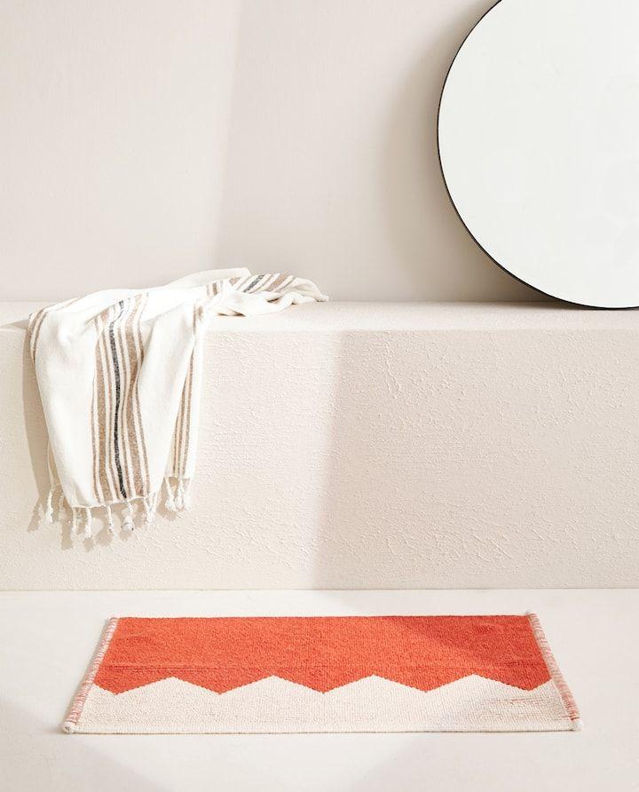 Image Of The Product Geometric Motif Bath Mat Bath Mat Zara Home Bath Towels Luxury