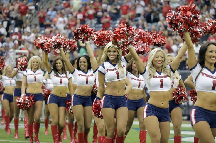 4. HOUSTON TEXANS CHEERLEADERS - Houston Texans cheerleaders perform during the first quarter of an NFL preseason football game against the Atlanta Falcons  Saturday, Aug. 16, 2014, in Houston. (AP Photo/Patric Schneider)