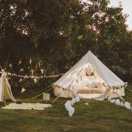 Mariage thème camping 3