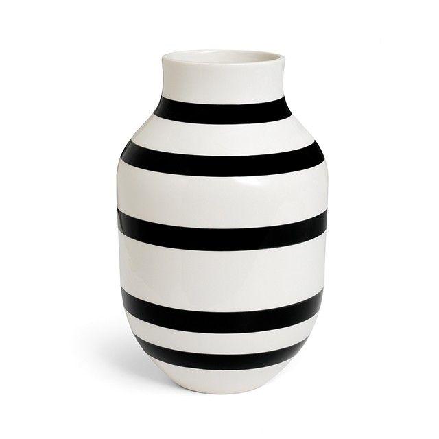 Omaggio Vase Sort - flere størrelser