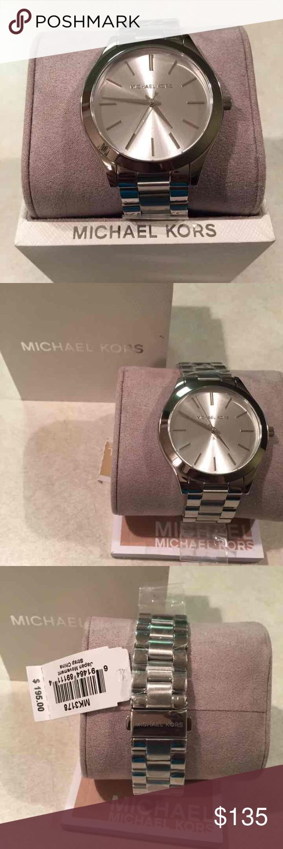 Michael Kors Watch mk3178 Cute &a Stylish everyday Michael Kors Ladies Watch Brand New W/Tags, Mk Box & Mk Manual  Plastic in face bad band  100% Authentic Michael Kors Accessories Watches
