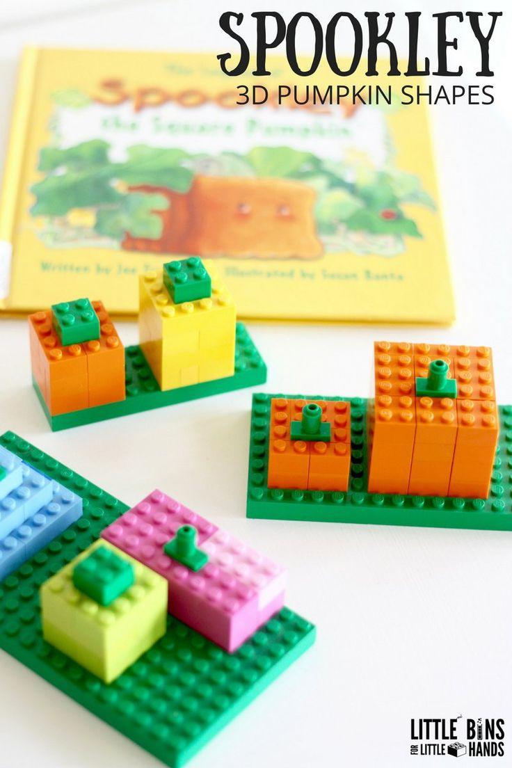 Pumpkin stems for crafts - Lego Spookley Pumpkin Stem Activity