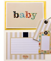 Neutral striped and spotty baby shower invitation or announcement card set www.motherbabystore.com.au/store