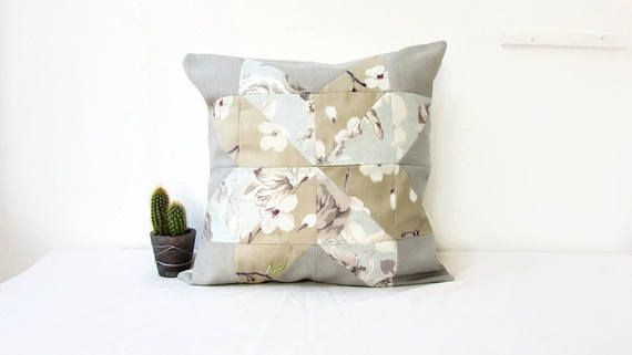 Patchwork cushion cover neutral cushion cover neutral rustic