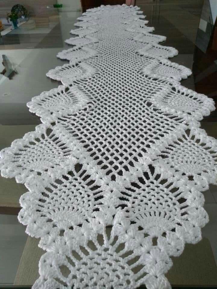 Chemin De Table Caminho De Mesa De Croche Toalha De Croche