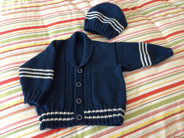 Ravelry: Project Gallery for Preppy Baby Cardigan pattern by Cathy Payson