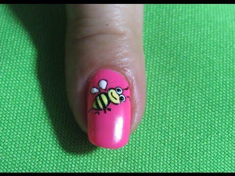 Decoracion de uñas abeja - bee nail art -Nail Art - Decoración De Uñas | Nailslucerocordoba - YouTube
