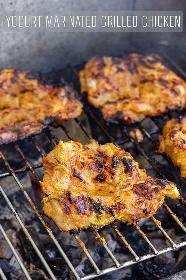 Yogurt Marinated Grilled Chicken Rezept Rezepte Hahnchen Grillen Und Leckeres Essen