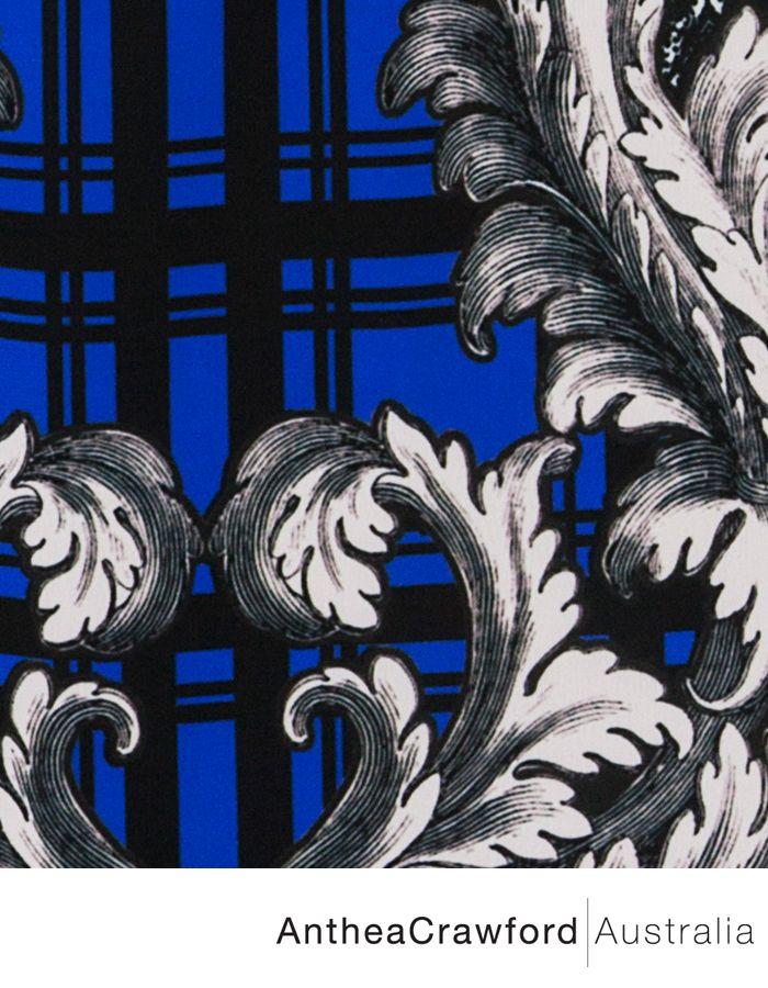 Baroque Digital Print AW14: Blue Baroque