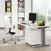 Ein Angebot von aktivshop Elektrisch höhenverstellbarer Schreibtisch Camargo Basic 120 Lava/Fußg.alufarbigIhr QuickBerater