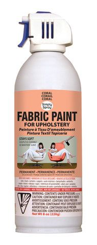Coral Upholstery Fabric Paint