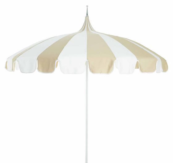 California Umbrella Pagoda Patio Umbrella - Beige