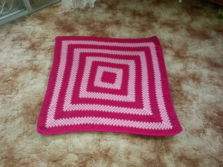 2 Shades of Pink Crocheted Blanket by HecklesHaunt on Etsy