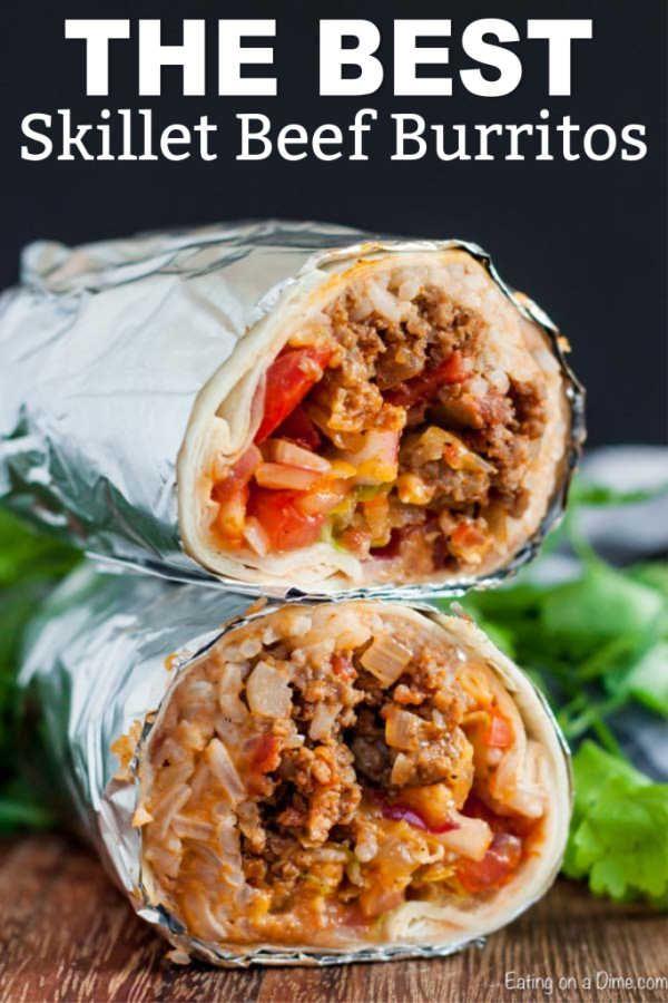 Beef Burrito Recipe Restaurant Style Ground Beef Burrito Recipe Recipe Beef Burrito Recipe Beef Dinner Burritos Recipe