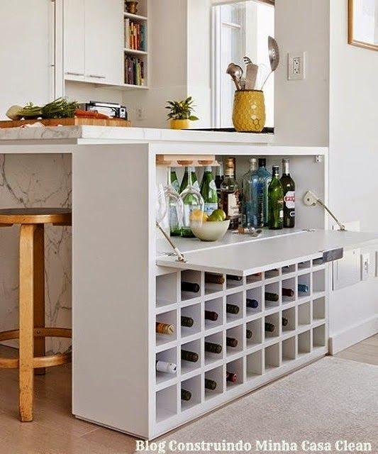 Construindo Minha Casa Clean: 21 Bares e Adegas Modernas em Casa! Veja Dicas e Modelos!