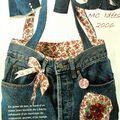 Comment transformer un vieux pantalon en jean en un sac doublé de liberty ?      ...