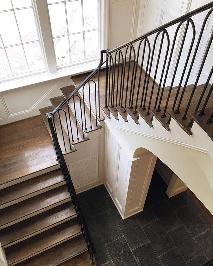 "Carolyn Kendall on Instagram ""Custom iron staircase"