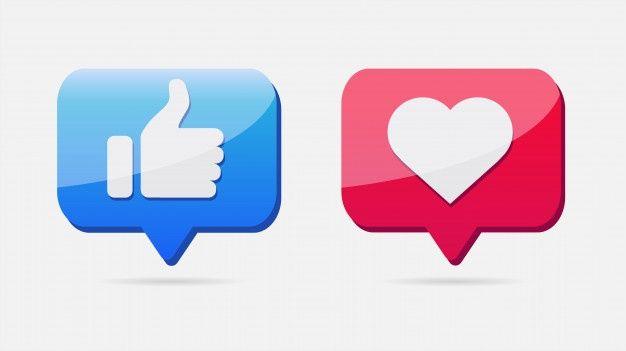 Me Gusta Y Los Iconos Del Corazon Vecto Premium Vector Freepik Vector Corazon Boton Burbuja Red Iconos De Amor Iconos Burbuja De Dialogo