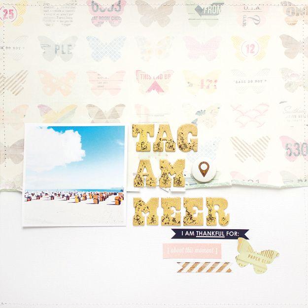 Scrapbook Layouts mit dem SBW Kit, zwei helle sommerliche Scrapbookseiten, gestaltet mit dem Scrapbook Werkstatt – Papierprojekt, Paperscrafts, kreativ, diy