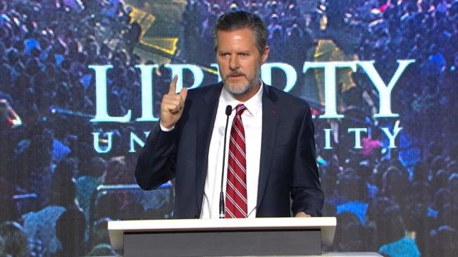 """""""I just wanted to take this opportunity to encourage all of you to get your permit,"""" the president of Liberty University said."""