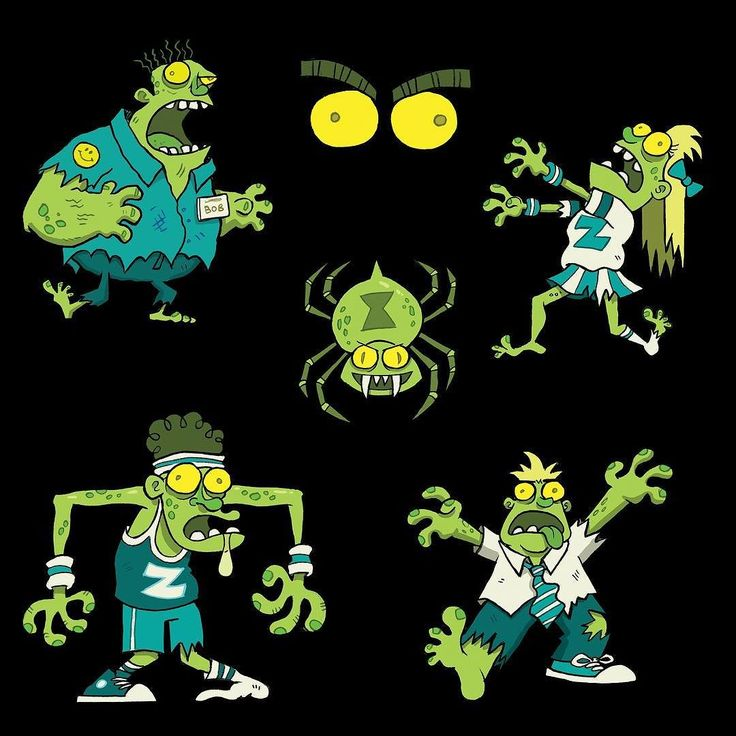 Glow in the Dark Zombie Stickers for @peaceable_kingdom #Halloween #zombies #illustration #characterdesign #cartoon #drawing #thewalkingdead #conceptart