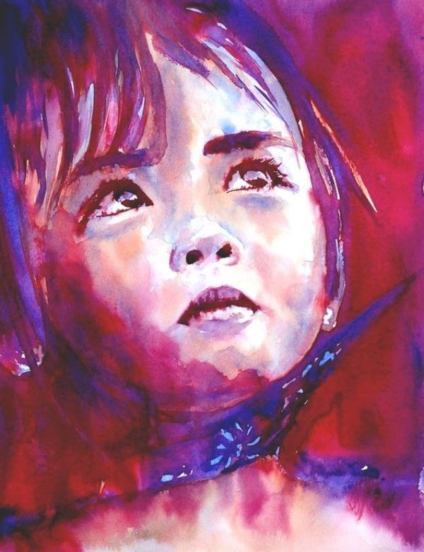 Examples Of Watercolor Paintings Watercolor Portraits Portrait
