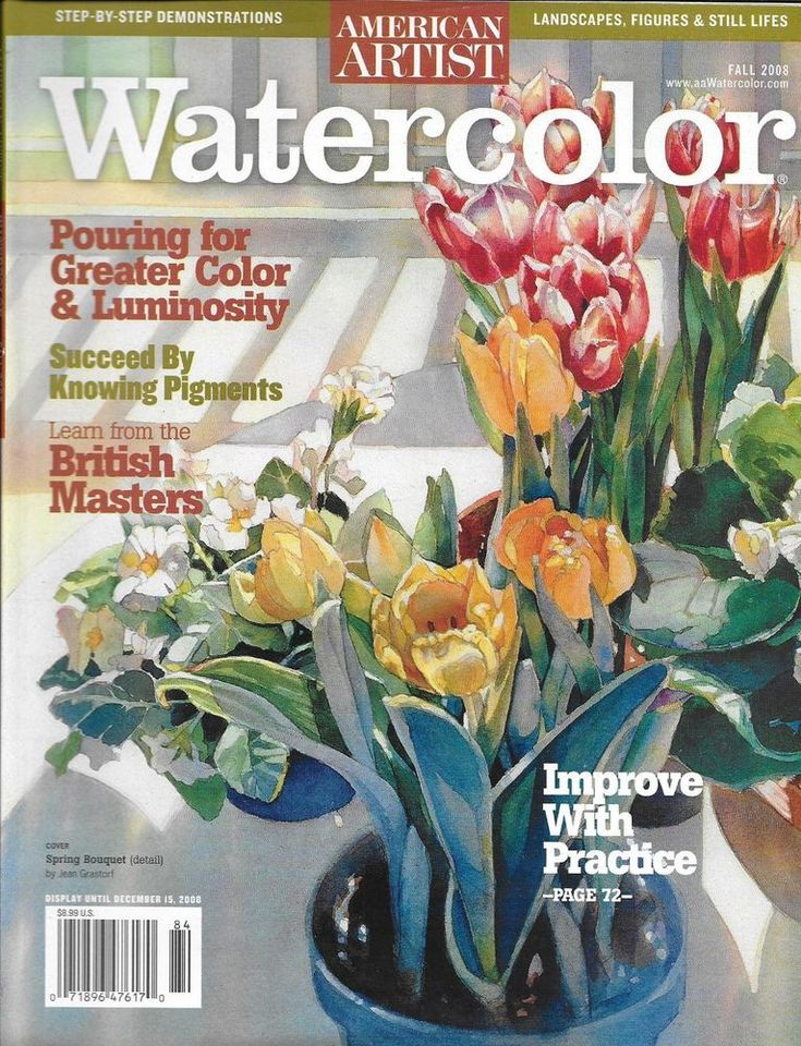 American artist watercolor magazine color and luminosity