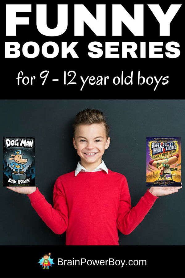 These funny book series for 9 - 12 year old boys will get your boys will get your boys laughing and hooked on reading. #funnybooks #reading #booksforboys #9-12