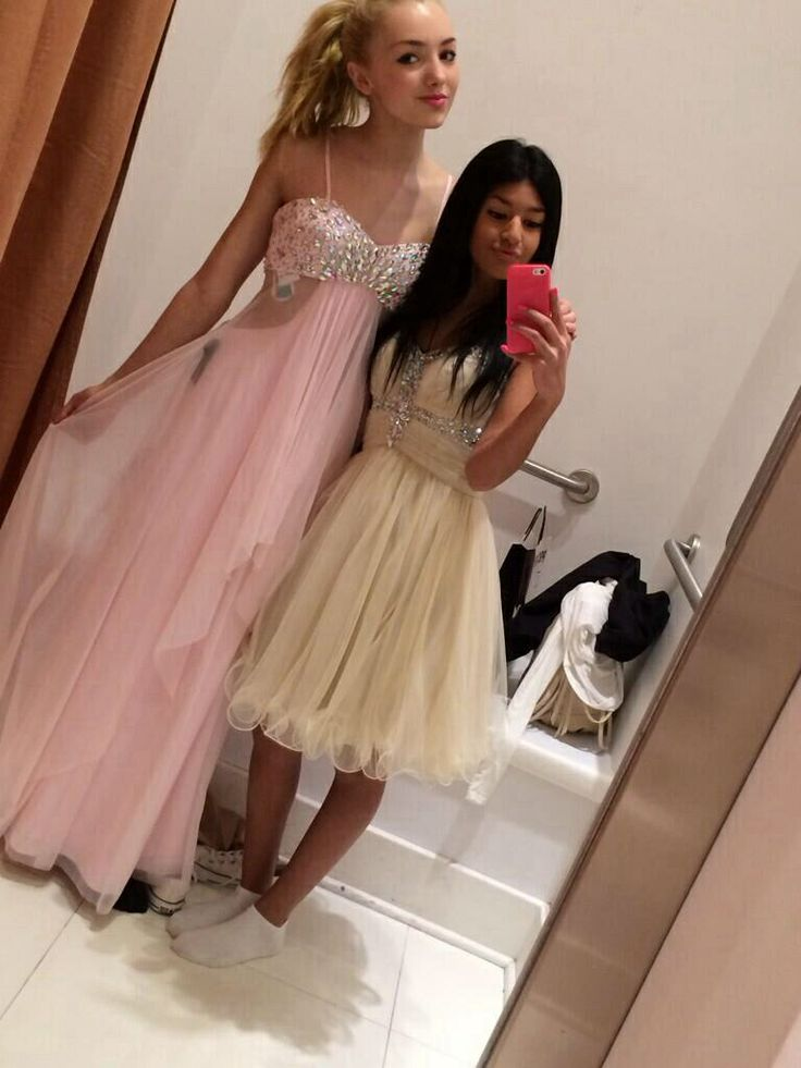 Trying on prom dresses is VERY uplifting...for some reason