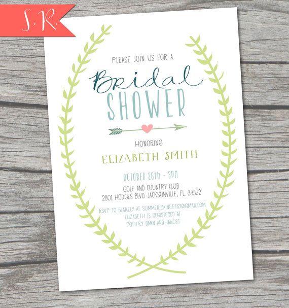 181 best bridal shower ideas images on pinterest weddings new spring vine bridal shower invitation digital printable on etsy 1700 filmwisefo