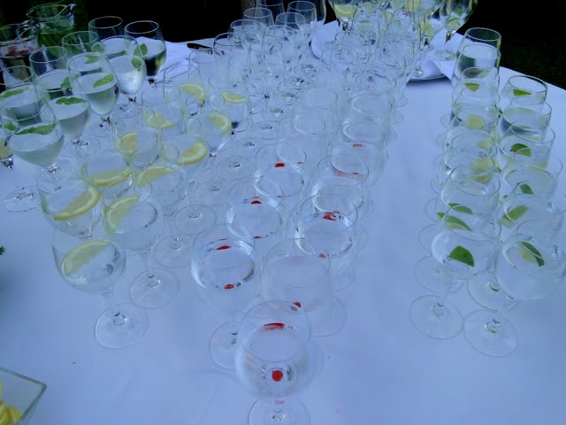 mesa de aguas frescas de sabores