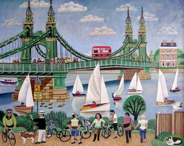 02 , Hammersmith Bridge, Saved 24x30.jpg (967×768) ALFRED DANIELS RWS RBA The Russell Gallery  12 Lower Richmond Road Putney London SW15 1JP  Telephone: 0208 780 5228 E-mail: russgallery@aol.com