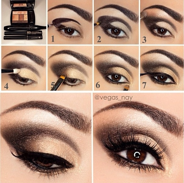 How-to for a neutral smokey eye