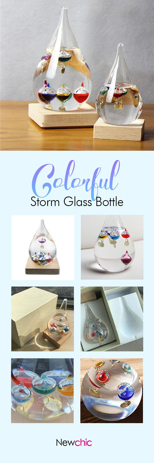 US$22.00 Colorful Galileo Thermometer Weather Temperature Forecast Storm Glass Bottle Christmas Gift#newchic#homedecor#party