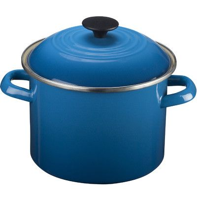 A Le Creuset stock pot in a brilliant blue makes cooking fun. | $75