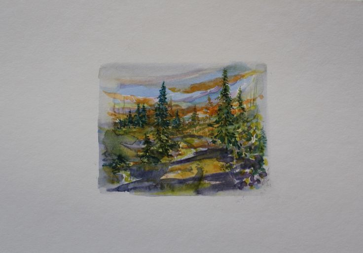 "3"" x 3.75"" Matted, including shipping/ Miniature Watercolour"