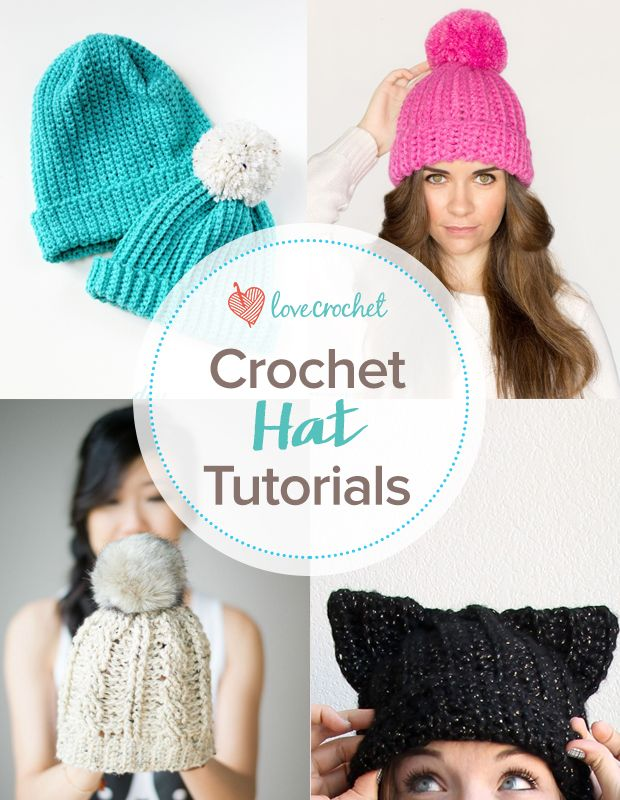 Pinteresting Projects: FREE Crochet Hat Tutorials by bloggers we love on LoveCrochet