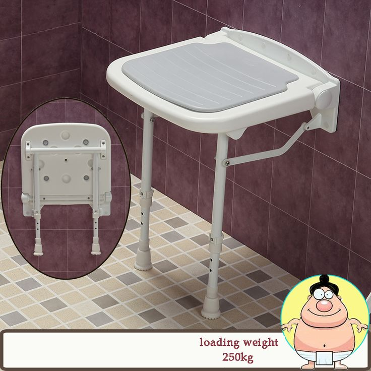 ABS+Aluminum folding shower seat spacing saving wall mounted  relaxation shower chair wall chair folding chair waiting chair