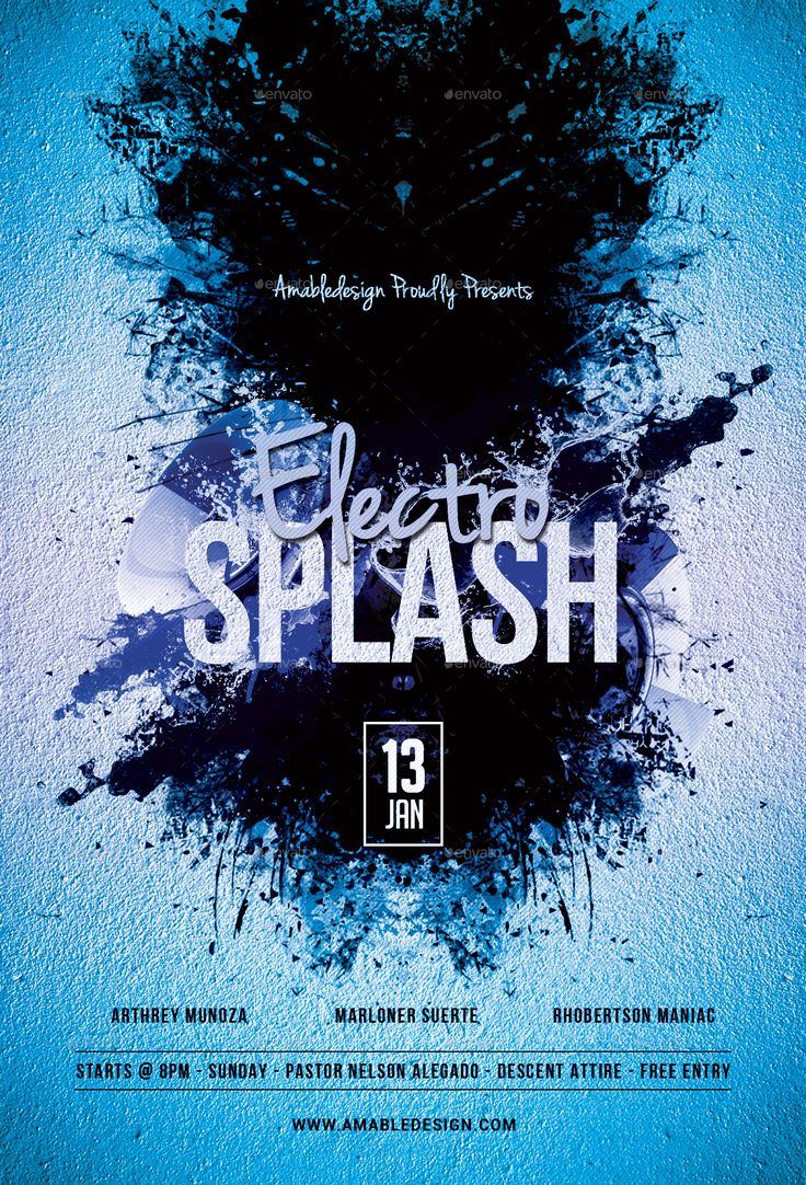 Electro Splash Flyer