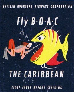 Fly BOAC The Caribbean. #20stem #matchbook. To order your business' own branded #matchbooks or #matchboxes. GoTo: www.GetMatches.com or call 800.605.7331